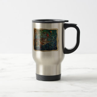 MUSKY Bucktl Bordered Travel Mug