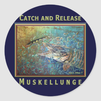 MUSKY C and R Classic Round Sticker
