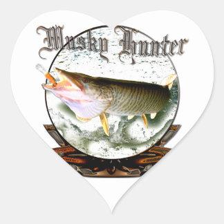 Musky hunter 1 heart sticker