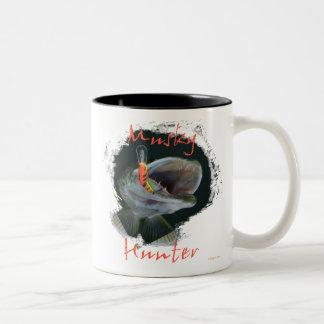 Musky Hunter Two-Tone Coffee Mug