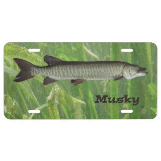 Musky License Plate