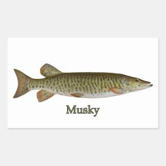 Musky (muskellunge) rectangular sticker