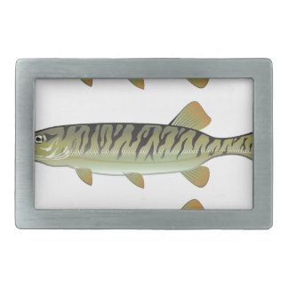 Musky Tiger musky and Northern Pike vector Belt Buckle