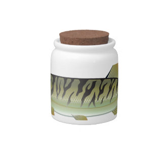 Musky Tiger musky and Northern Pike vector Candy Jar
