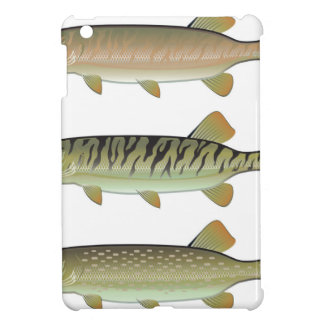 Musky Tiger musky and Northern Pike vector Case For The iPad Mini