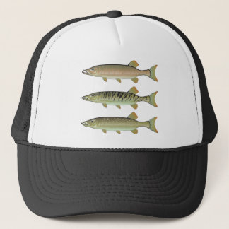 Musky Tiger musky and Northern Pike vector Trucker Hat