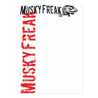 MuskyFreak_Red Postcard