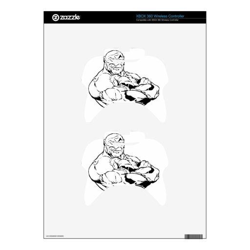 MUSLE BOUND BODYBUILDING LOGO XBOX 360 CONTROLLER SKIN