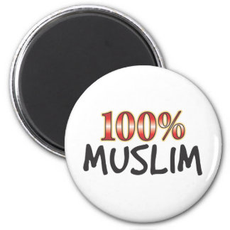 Muslim 100 Percent 2 Inch Round Magnet