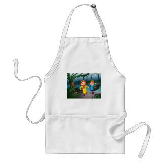 Muslim and forest adult apron