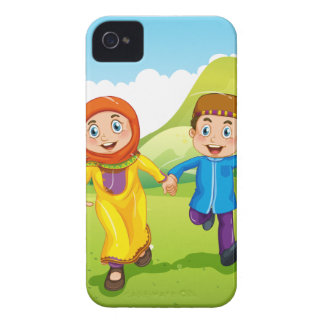 Muslim boy and girl holding hands Case-Mate iPhone 4 case