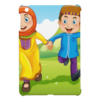 Muslim boy and girl holding hands cover for the iPad mini