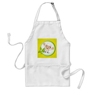 Muslim boy with happy face adult apron