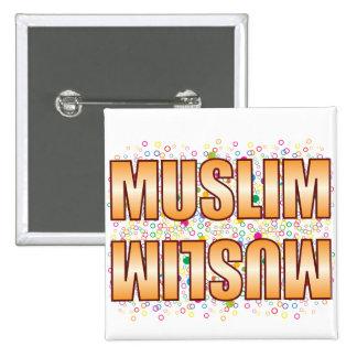 Muslim Bubble Tag 2 Inch Square Button