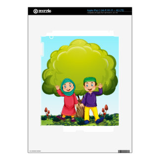 Muslim couple in the park iPad 3 skins