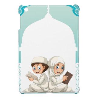 Muslim couple in white costume reading books iPad mini case