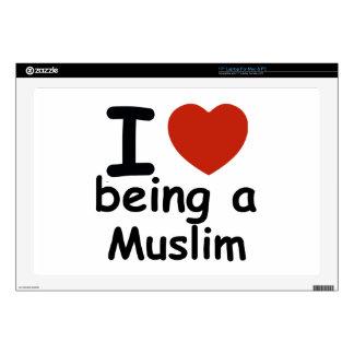 "Muslim design 17"" laptop decal"
