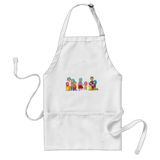 Muslim families looking happy adult apron