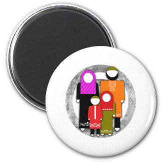 Muslim Family 2 Inch Round Magnet