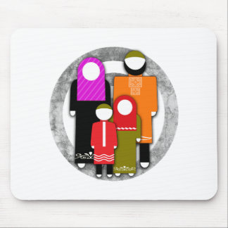 Muslim Family Mouse Pad