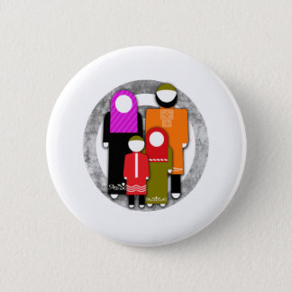 Muslim Family Pinback Button