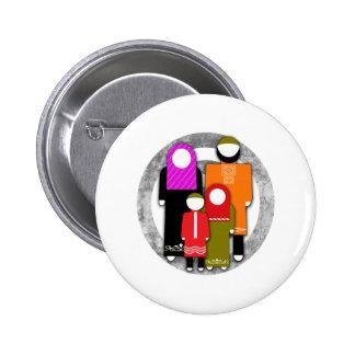 Muslim Family Pinback Button