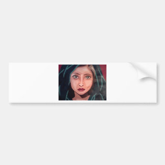 muslim girl car bumper sticker