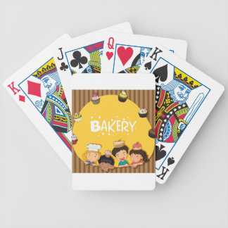 Muslim girl with happy face bicycle playing cards