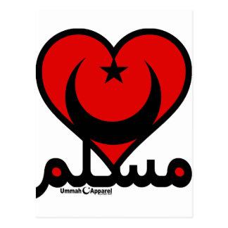 Muslim Heart Postcard