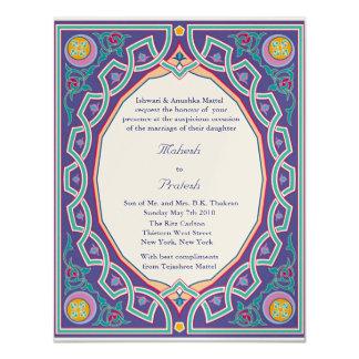 Muslim Hindu Asian Wedding or Mehndi Invitation