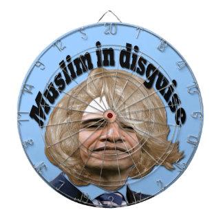 Muslim in Disguise Dartboard With Darts