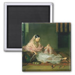 Muslim Lady Reclining, 1789 (oil on canvas) 2 Inch Square Magnet