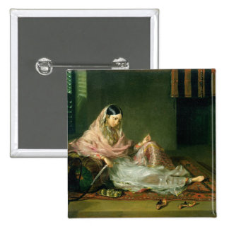 Muslim Lady Reclining, 1789 (oil on canvas) Button