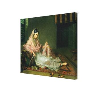 Muslim Lady Reclining, 1789 (oil on canvas) Canvas Print
