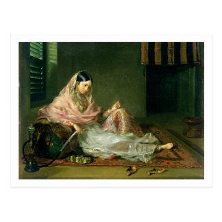 Muslim Lady Reclining, 1789 (oil on canvas) Postcard
