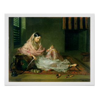 Muslim Lady Reclining, 1789 (oil on canvas) Poster