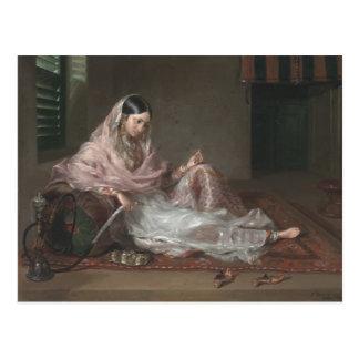 Muslim Lady Reclining By Francesco Renaldi Postcard