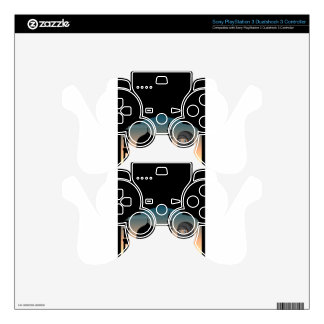 Muslim woman in black costume PS3 controller skin