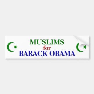 MUSLIMS FOR OBAMA BUMPER STICKER CAR BUMPER STICKER