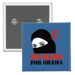 Muslims for Obama Button