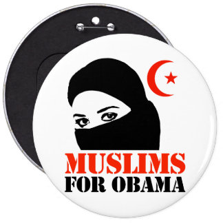 Muslims for Obama Pinback Button