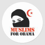 MUSLIMS FOR OBAMA STICKERS