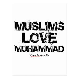 Muslims Love Muhammad Postcard