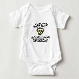 Muslims...Regular People, Only Much Smarter Baby Bodysuit