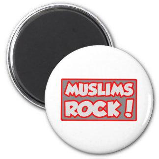 Muslims Rock! 2 Inch Round Magnet
