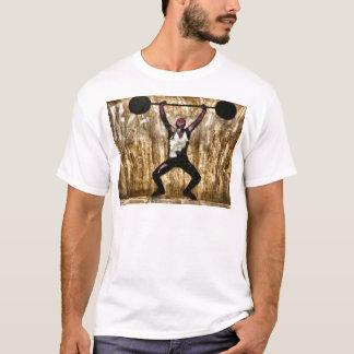 Musscleman Strongman Weightlifter Dumbbell Barbell T-Shirt