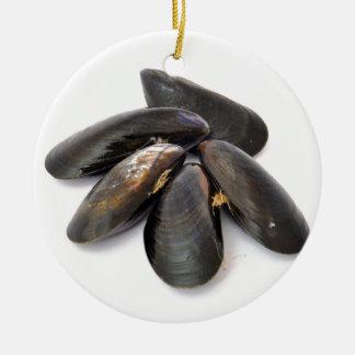 Mussel Ceramic Ornament