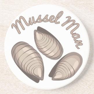 Mussel Man Drink Coaster