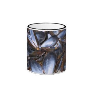 Mussel Shells Ringer Coffee Mug