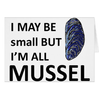 Mussel Size Greeting Card